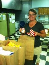 Helping pack food bags at Paducah Cooperative Ministries