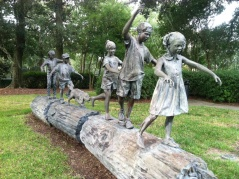 The joy of children at play captured in bronze