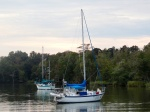 Two friends join us for this anchorage...Teasa, from Brazil, and Fair Ketch