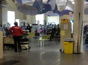 A variety of exercise equipment can be found in the Wellness Center.