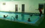 A class in the therapeutic pool